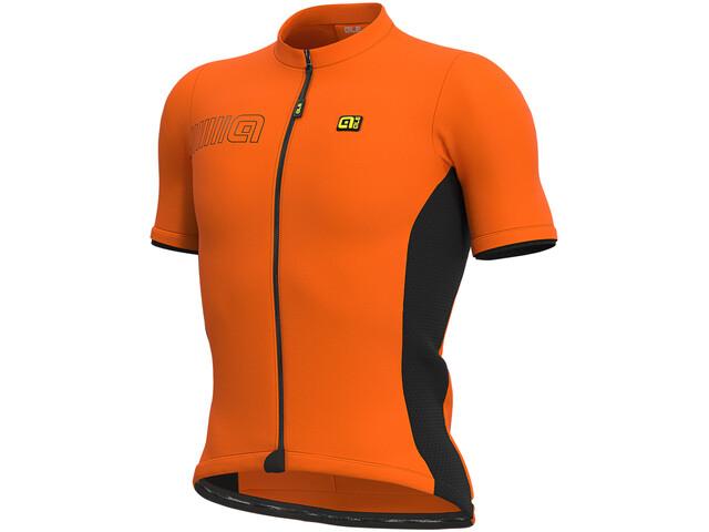 Alé Cycling Solid Color Block Maillot Manga Corta Hombre, naranja